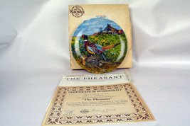 Vintage Bradford Exchange Edwin M Knowles The Pheasant Collector Plate - $21.77