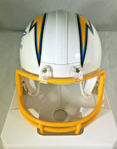 PHILLIP RIVERS / AUTOGRAPHED LOS ANGELES CHARGERS LOGO RIDDELL MINI HELMET / COA image 4