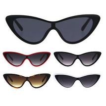 Womens Shield Futuristic Cat Eye Funky Plastic Sunglasses - $9.95