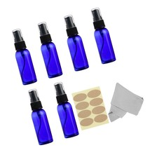 6 pack Blue Spray Bottles, 1 oz (30ml) Empty Plastic Fine Mist Sprayer w... - $15.00