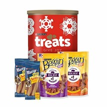 Purina Beggin' with Busy Holiday Dog Treats, Gift Tin - 4 ct. Canister - $26.00