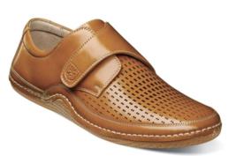 Stacy Adams Omega Moc Toe Strap Casual Shoe Natural 25362-280 - €63,84 EUR