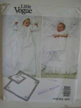 Little Vogue Pattern #2878 Christening Gown Pillow Sham Blanket Newborn - $9.89