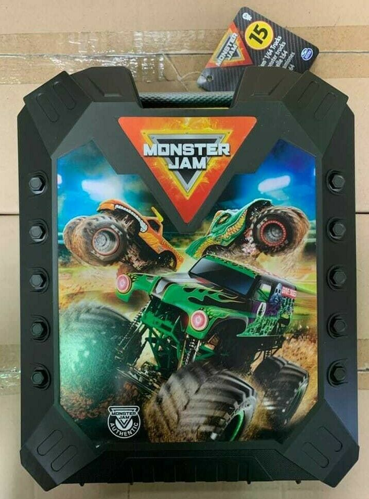 Primary image for HOT WHEELS Monster Jam 1/64 Carrying Case Storage Holds 15 Monster