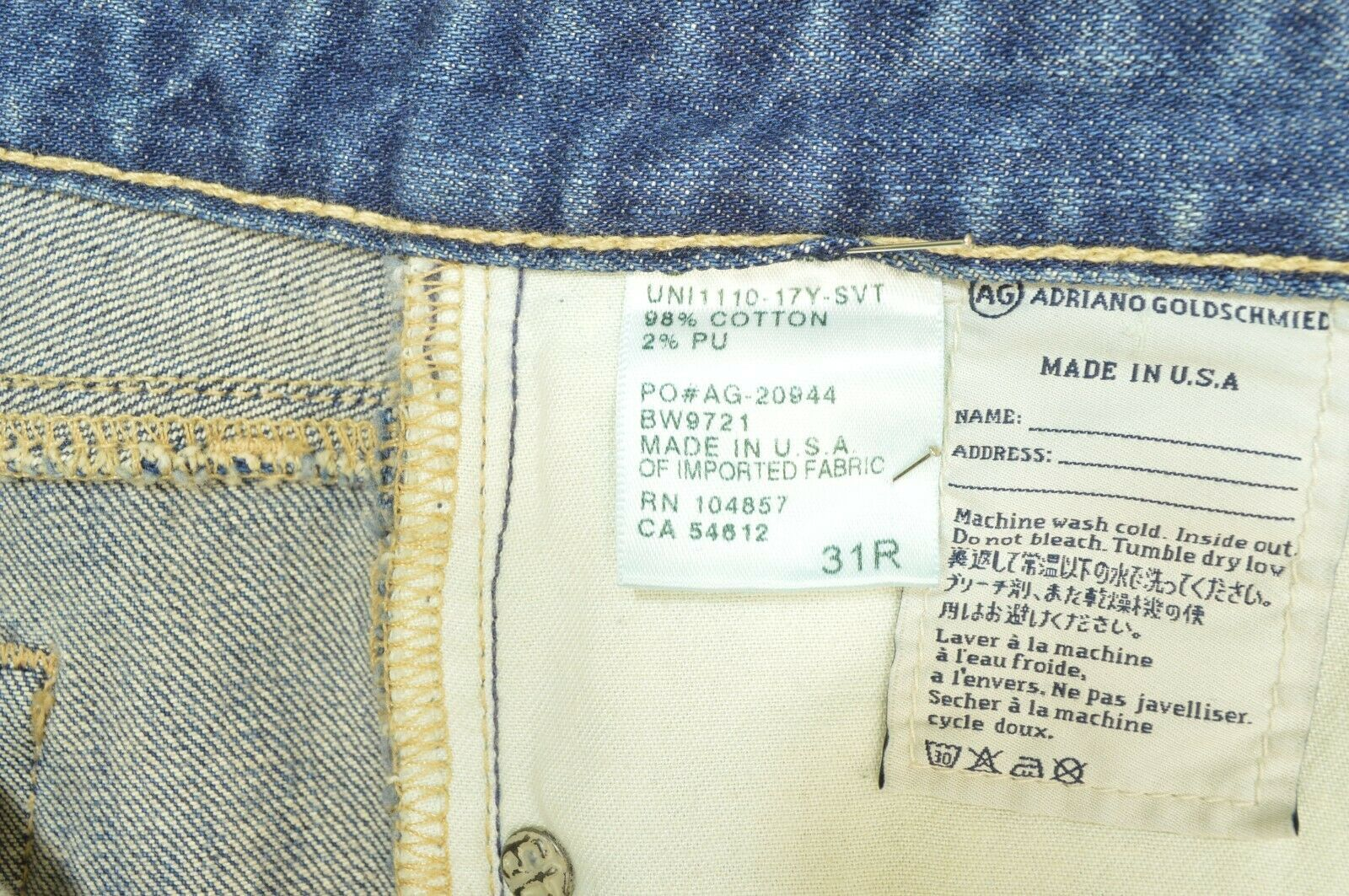 AG Adriano Goldschmied jeans 31 x 31 Stilt cigarette leg 17Y - SVT destroyed USA image 7
