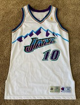 HOWARD EISLEY NBA UTAH JAZZ GAME USED WORN JERSEY CHAMPION MOUNTAIN 1996-97 NBA - $650.49