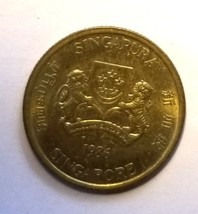 Singapore 5 Cents Coin km50 1986 - $0.50