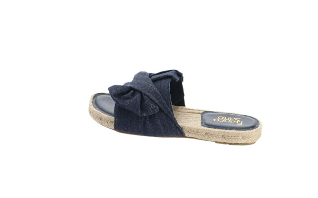 Primary image for Franco Sarto Espadrille Slide Sandals Phantom Denim 5.5M NEW A306947