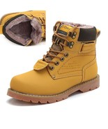 BDF Men Winter Snow Boots Cow Split Leather Fur Shoes High Quality Outdo... - $66.45