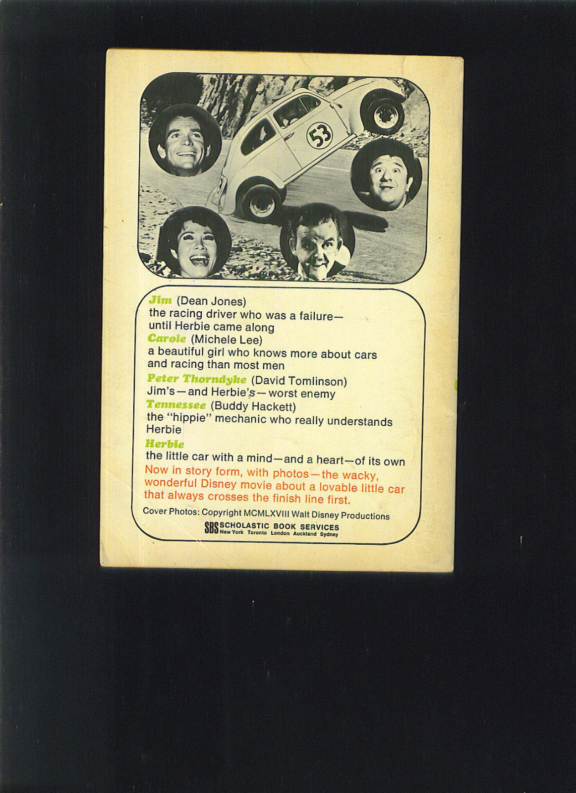 Walt Disney THE LOVE BUG 1970 Scholastic Book Michelle LEE Buddy HACKETT