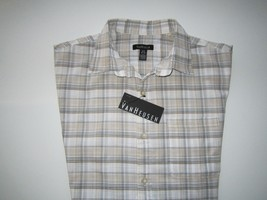 Van Heusen Spread  Plaids Desert Textures Short SL Men casual Shirt S (1... - $20.31