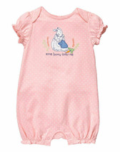 Gymboree Peter Rabbit Pink Rabbit Romper Baby Girl Some Bunny Loves me H... - $26.72