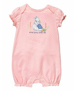 Gymboree Peter Rabbit Pink Rabbit Romper Baby Girl Some Bunny Loves me H... - $26.72