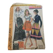 McCalls Sewing Pattern 2300 Vintage Patchwork Skirts 1970 Uncut Waist 23... - $11.99