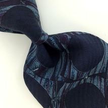 STRUCTURE US MADE TEXTURED POLKA DOTS NAVY BLUE Silk Men Necktie I4-426 ... - $15.83