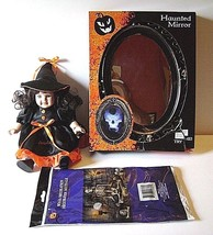 "Halloween Witch Doll 8"" Tall Haunted Motion Activated Mirror Skeleton Wa... - $22.44"