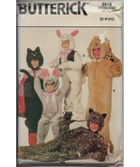 Vintage Butterick 6815 Children Cats Costume Suit Boys Girls Size 5-6-6x... - $10.00