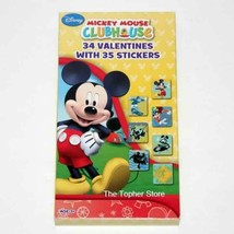 Mickey Mouse Clubhouse Valentines For Kids Classroom, 34 Cards and Stickers - $11.29
