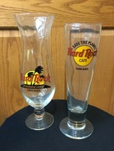 2 Hard Rock Cafe Glasses Hurricane Beer Glass - $11.39