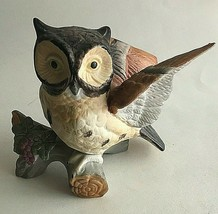 "Vintage Owl on Branch Ceramic Figurine Statue Collectible 6""X5""X3"" Mid C... - $11.68"