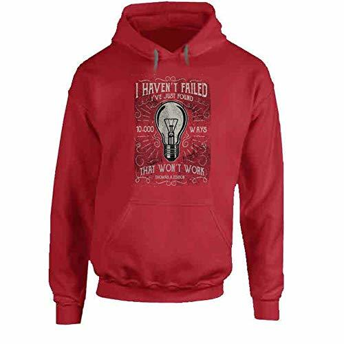I Havent Failed Hoodie XL Red