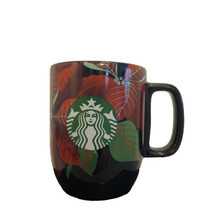 Starbucks Poinsettia Ceramic Mug Holiday Christmas 2020 12 oz Navy Blue NEW - $22.67