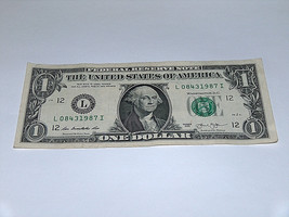 2013 $1 Dollar Bill US Bank Note Date Year Birthday 0843 1987 Fancy Mone... - $13.78