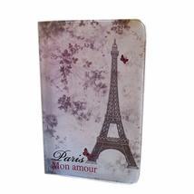 Retro PVC Eiffel Tower Pattern Passport Cover Holder Passport for Travel