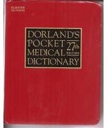 Dorland's Pocket Medical Dictionary 27th Edition Paperback - $9.95