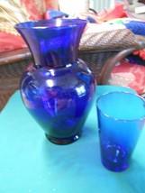 "Beautiful Large 12"" COBALT Vase and FREE Cobalt Glass - $9.49"