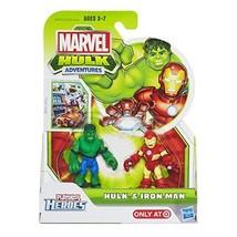 Playskool, Marvel, Heroes, Adventures ,The Incredible Hulk, and Iron Man,  - $18.17