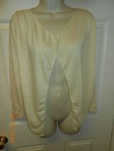 Tan beigh open front long sleeve Top thin casual jacket sz S Beach sun c... - $6.92