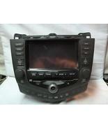 03-07 Honda Accord XM Radio Cd Gps Navigation 2CK3 39051-SDA-L420 ST10 - $198.00