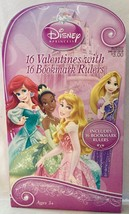 Disney Princess Valentine Day Cards Package of 16 Cards & Bookmark Ruler... - $2.94