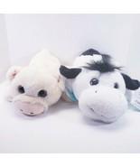 Cow & Pig Plush Stuffed Animal Set Glitter Eyes NEW 12in - $20.03