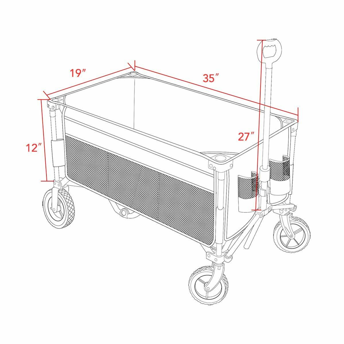 Timber Ridge Camping Wagon Folding Garden Cart Shopping Trolley Collapsible Heav