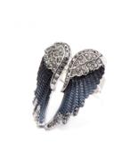 Angel Wings Ring Women Fashion Jewelry Vintage Rhinestone Modern Boho Accessory - $11.63