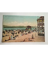 VINTAGE POSTCARD BATHING BEACH AT SANTA CRUZ, CALIFORNIA F71 - $13.61