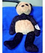 "HAPPY TYMES TEDDIES TO GO BLACK TAN BEAR PLUSH VERY GOOD CONDITION 18"" L... - $32.45"