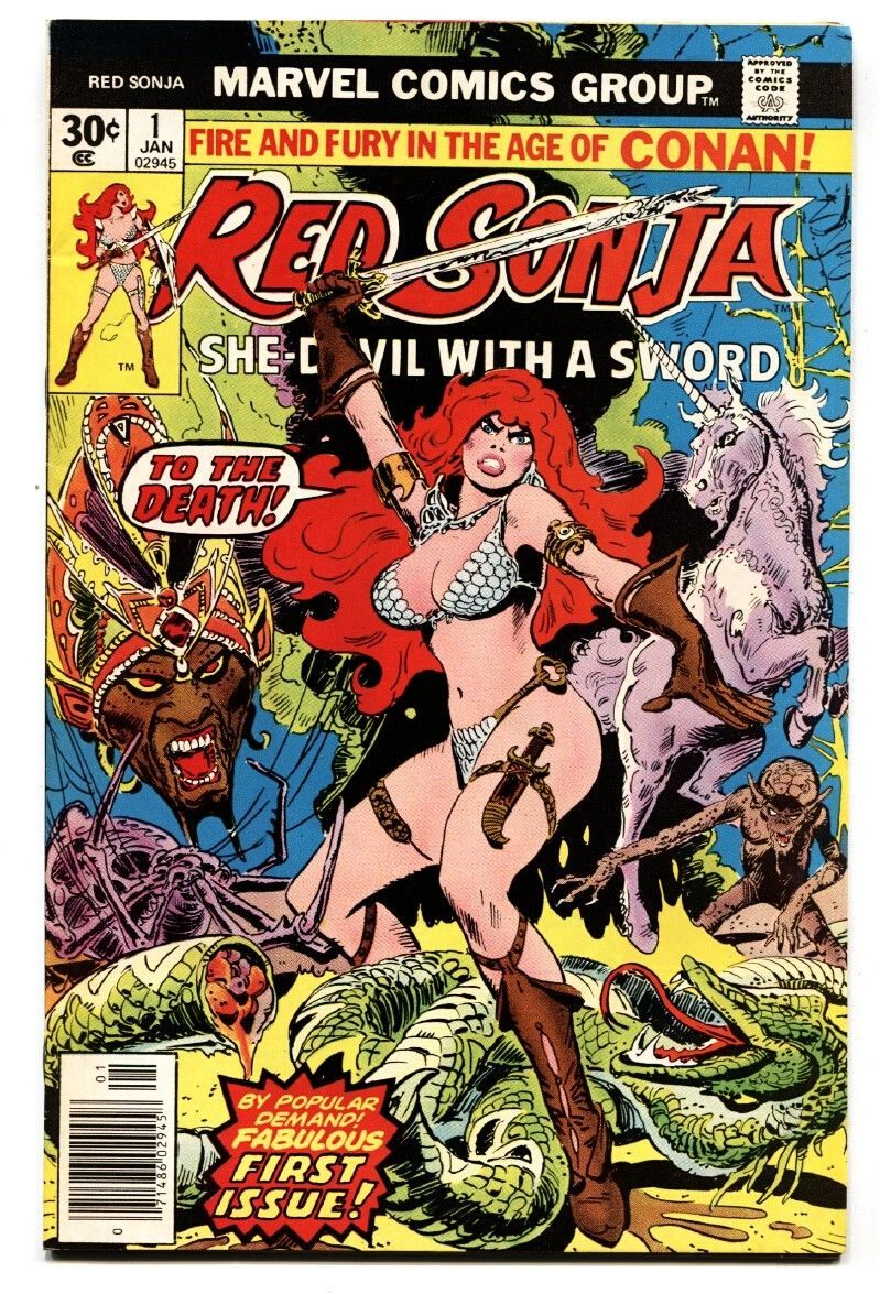 RED SONJA #1 1977-MARVEL-comic book-FIRST ISSUE