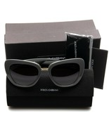 NEW D&G Dolce & Gabbana DG4296 3090/8G GREY /GREY GRAD SUNGLASSES 53mm Italy - $188.09