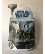 Star Wars Clone Wars (2008) Yoda Force Blast #3 Firing Force Blast Figur... - $13.00