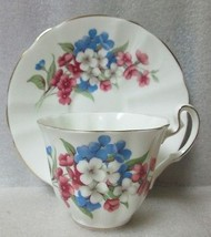 ADDERLEY China Tea CUP & SAUCER impatients Patt H1260 GOLD TRIM  Vintage - $12.61