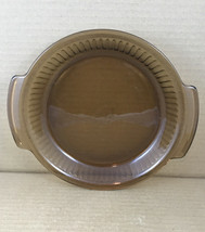 """Anchor Hocking 9"""" Amber Glass Pie Plate Baking .75 Qt Oven-proof - $8.59"""