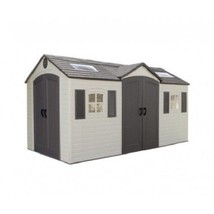 Lifetime 15x8 Plastic Storage Shed Kit w/ Double Doors [60079] - $1,996.55
