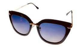 Kenneth Cole Reaction Mens Soft Square Black Gold Plastic Sunglass KC136... - $17.99