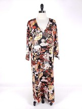 Natori Cruz Women Sleepwear Small Caftan Art to Wear Asian House Gown Lo... - $63.99