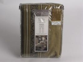 Croscill LIBERTY Pole Top Drapes Curtains Gold Black 2 sets avail - $62.65