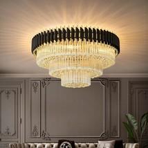 Black Crystal Ceiling Chandelier Lamp Bedroom Home Decoration Lighting F... - $1,399.99+