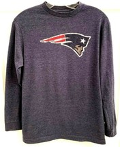 NFL Team Apparel XL 14-16 Boys T-Shirt NE Patriots Pats Blue Logo Top Sh... - $17.81